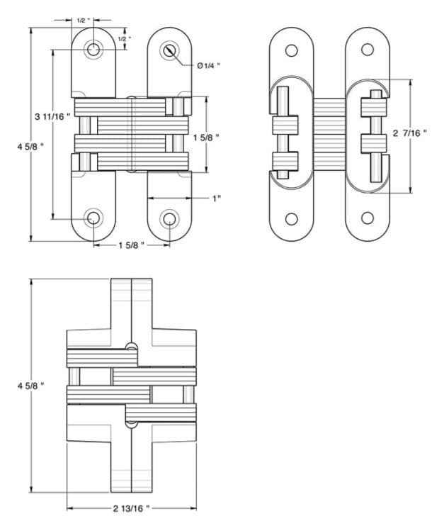 Deltana DCH216 Invisible Hinge