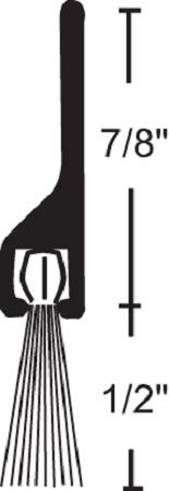 NGP 600 Door Sweep with Nylon Brush Seal