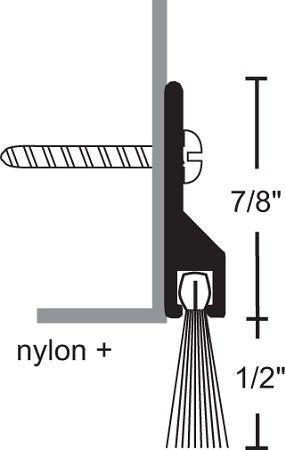 NGP 9600 Door Sweep with Nylon Brush Seal