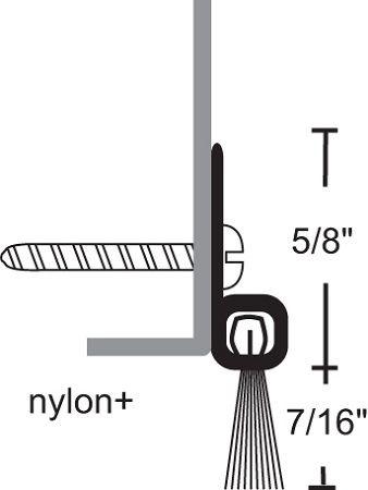 NGP 9605 Door Sweep with Nylon Brush Seal