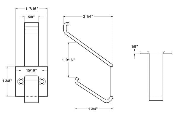 Deltana  MH12 Residential Modern Coat and Hat Hook